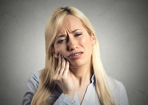 woman has toothache