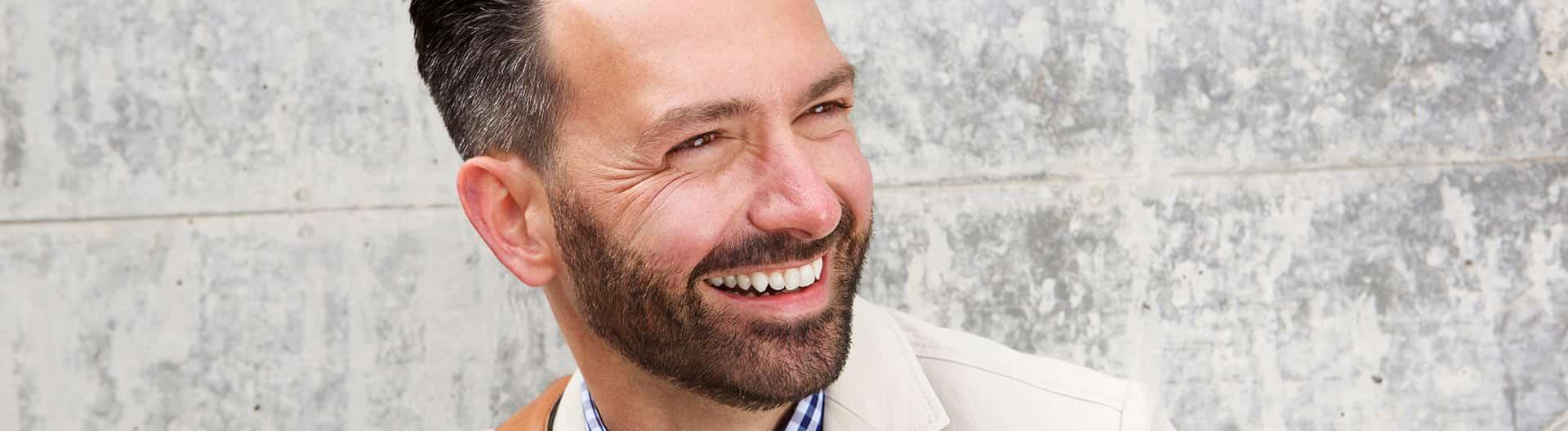 Older man smiling